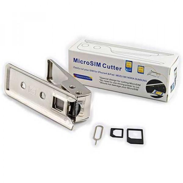Κόφτης κάρτας micro SIM για IPhone IPad Tablet Smartphone με 2 αντάπτορες