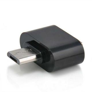 Μετατροπέας OTG USB Α Θηλυκό σε Micro Αρσενικό Adaptor Black Silver