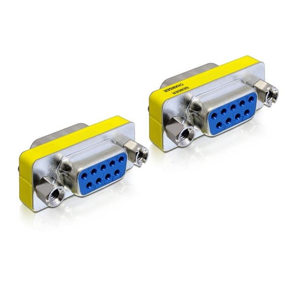 Delock Adaptor μετατροπής σειριακής θύρας SUB-D9 F/F 65008 RS232 Gender Changer