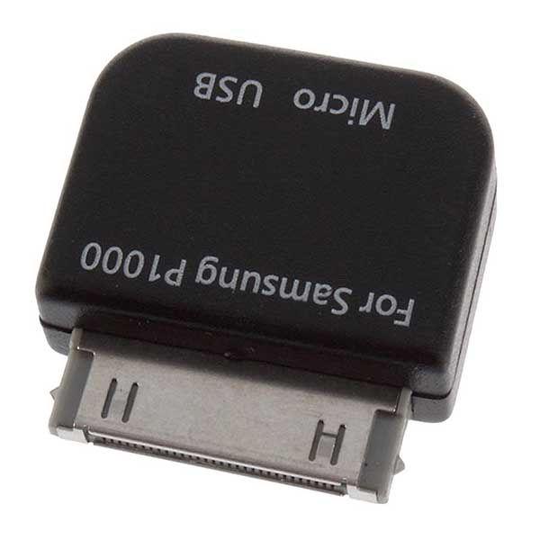 Μετατροπέας αντάπτορας Micro USB Θηλυκό σε Samsung 30pin Αρσενικό για Galaxy Tab Black