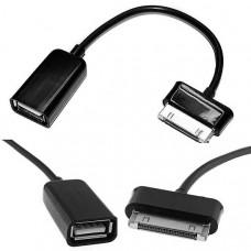 Καλώδιο OTG USB Α Θηλυκό σε Samsung 30pin Αρσενικό 15cm για Galaxy Tab Black