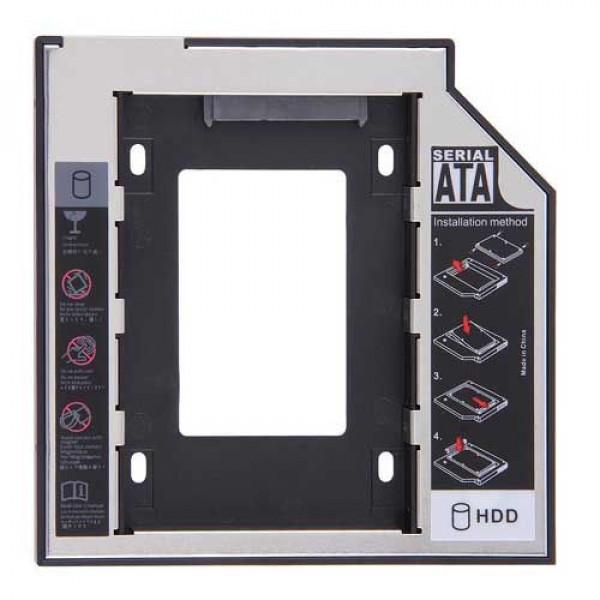 Θήκη πλαίσιο για HDD SSD 2.5 ιντσών δίσκους 9.5mm στη θέση του CD DVD Sata Slimline 12.5cm