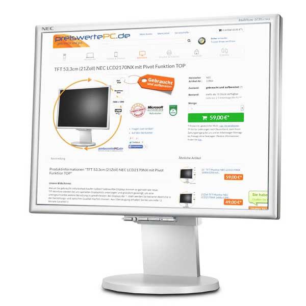 Οθόνη TFT 17 ιντσών NEC 1770nx Used Monitor λευκή