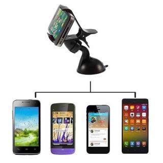 Βάση στήριξης αυτοκινήτου με βεντούζα & Clip για οποιαδήποτε συσκευή (OEM) έως 9.5cm