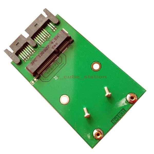 """Κάρτα μετατροπέας Mini PCIe PCI-e mSATA 3x5cm SSD σε 1.8"""" Micro SATA uSATA Adapter Converter"""