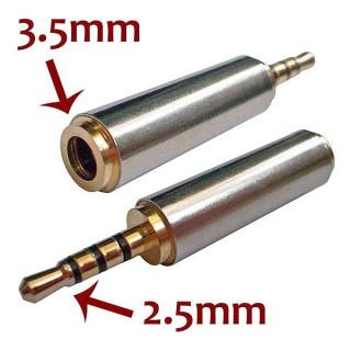Μετατροπέας stereo jack από 3.5mm Θηλυκό σε 2.5mm Αρσενικό για όλα τα handsfree ακουστικά με μικρόφωνο
