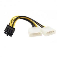 Καλώδιο αντάπτορας τροφοδοσίας κάρτας γραφικών 2xMolex 5.25 4-pin (LP4) σε PCI Express 8-pin μήκος 18 εκ.