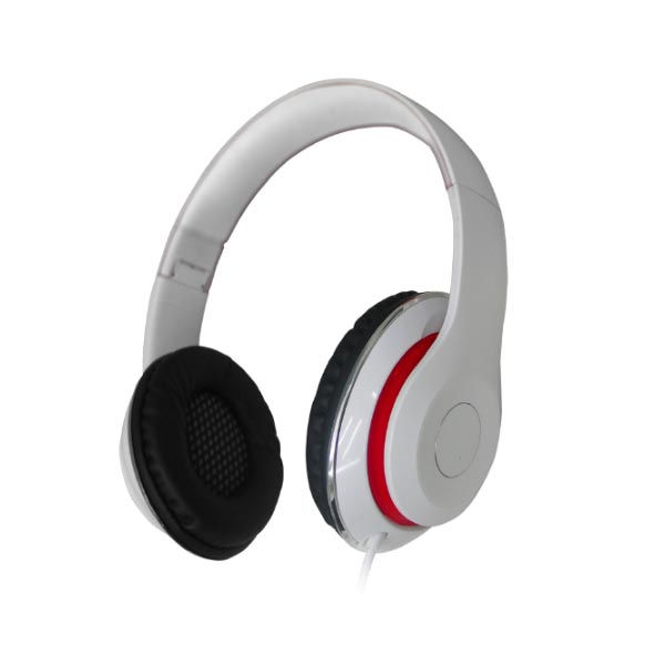 Ακουστικά με μικρόφωνο handsfree σπαστό HVT AHP-515 λευκό κόκκινο