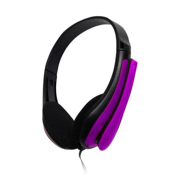 Ακουστικά με μικρόφωνο PC headset HVT TP195 μωβ κόκκινο γαλάζιο