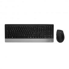 Σετ Πληκτρολόγιο - Ποντίκι Highline Series MediaRange Wireless Black MROS105-GR Ασύρματο 18320