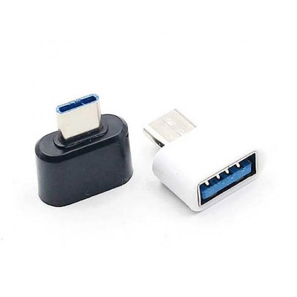 Μετατροπέας OTG USB Α Θηλυκό σε TYPE-C USB 3.1 Αρσενικό Adaptor Black White