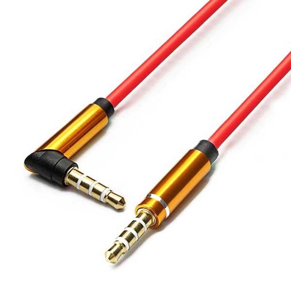 Καλώδιο Handsfree 3.5mm AUX Αρσενικό σε Αρσενικό Gold Plated 1m TRRS από TPE