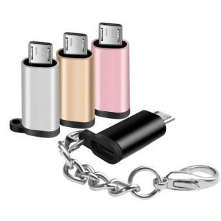 Μετατροπέας USB Type-C 3.1 Θηλυκό σε Micro USB 2.0 Αρσενικό Adaptor σε 5 χρώματα