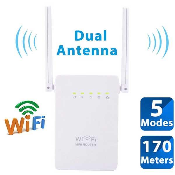 Αναμεταδότης WiFi N 300Mbps Mini Wireless Router Range Repeater Extender Booster WISP Client
