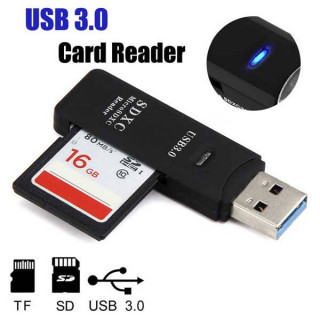Card Reader USB 3.0 για micro TF SD SDHC και SDXC κάρτες μνήμης έως 2TB