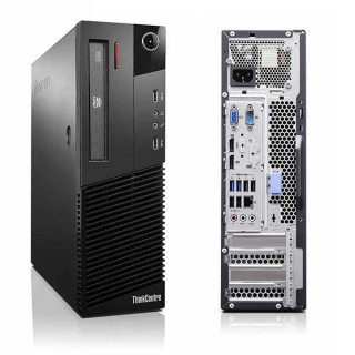 Lenovo ThinkCentre M83 SFF Intel Quad Core i5-4570s, 8GB, 128GB SSD, DVD-RW Win7 Refurbished PC