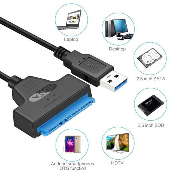 Καλώδιο USB 3.0 σε SATA III 22pin για σύνδεση SSD HDD δίσκων 2.5 ιντσών
