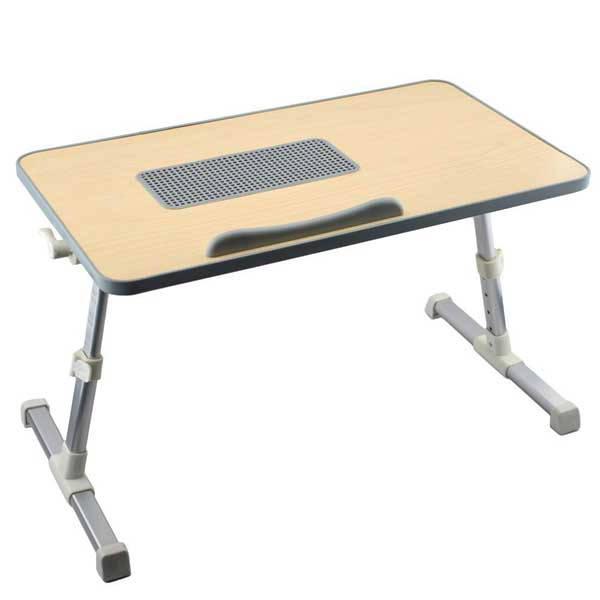 Πτυσσόμενο Ξύλινο τραπεζάκι για laptop με Ανεμιστήρα Ergonomic Laptop Desk