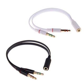 Μετατροπέας ήχου από TRRS handsfree 3.5mm θηλυκό σε 2x TRS headset αρσενικά βύσματα