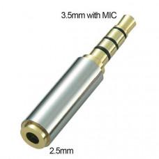 Μετατροπέας stereo jack από 3.5mm Αρσενικό σε 2.5mm Θηλυκό για όλα τα handsfree ακουστικά με μικρόφωνο