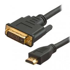 Καλώδιο HDMI 19pin σε DVI 24+1 Αρσενικό/Αρσενικό 1.5m Dual Link