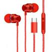 Ακουστικά με μικρόφωνο Handsfree Type-C Super Bass για Smartphone