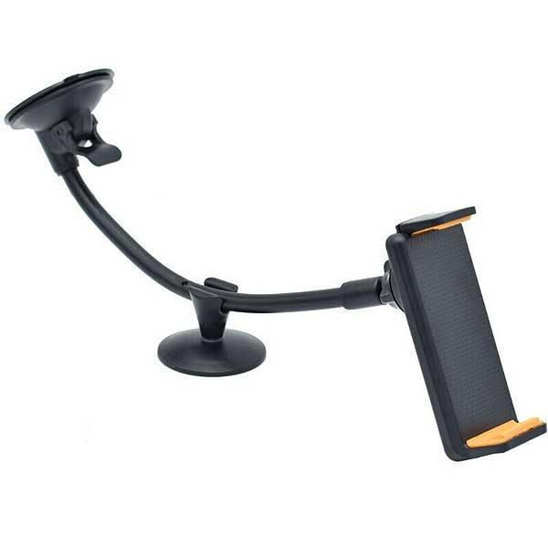 Βάση στήριξης για τζάμι αυτοκινήτου με βεντούζα για tablet ή smartphone από 11.5cm έως 19cm