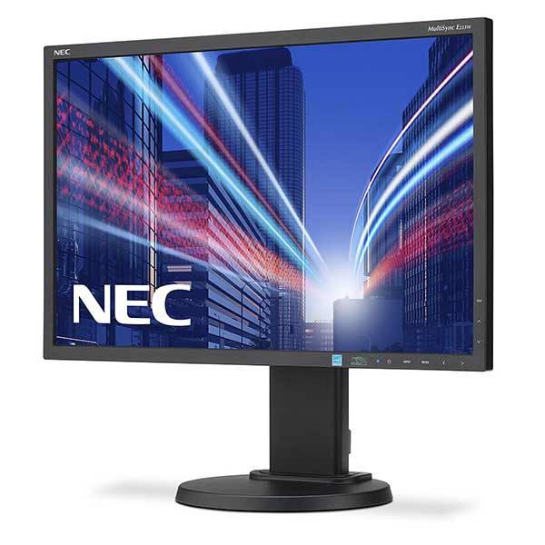 Οθόνη LCD 22 ιντσών NEC E223W Commercial Used Monitor μαύρη