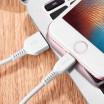Hoco Premium USB X20 Lightning Cable Λευκό Starlight Glare ή Μαύρο Snowy Spirit 2m για iPhone