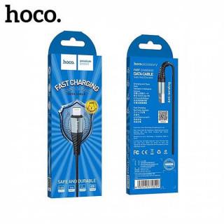 Hoco Premium USB X38 Lightning Fast Charging Data Cable Μαύρο 1m για iPhone
