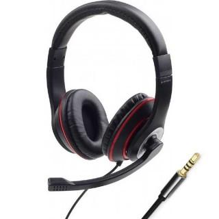 Ακουστικά με μικρόφωνο handsfree Gembird MHS-03 BKWT BKRD μαύρο με λευκό ή κόκκινο 4pin