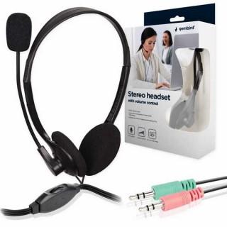 Ακουστικά με μικρόφωνο PC headset Gembird MHS-123 μαύρο