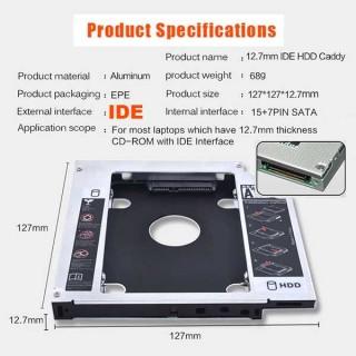 Θήκη πλαίσιο για 2.5 ιντσών δίσκους HDD SSD έως 12.5mm στη θέση του IDE PATA DVD