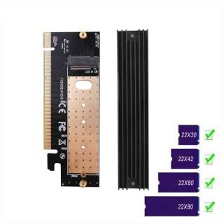 Κάρτα Επέκτασης PCI-e x16 σε M.2 M-Key για δίσκους SSD NVMe με ψύκτρα
