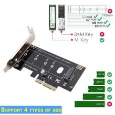 Κάρτα Επέκτασης PCI-e x4 σε M.2 M-Key για δίσκους SSD NVMe