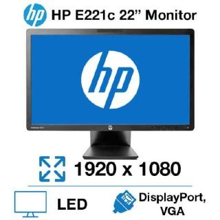 Οθόνη LED IPS 22 ιντσών HP EliteDisplay E221c Wide Multimedia Used Monitor με WebCam