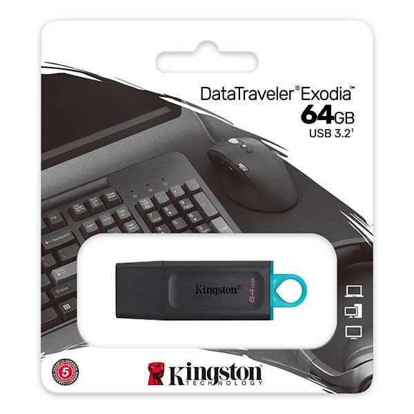 Kingston USB Flash Drive Data Traveller Exodia 64GB USB 3.2 Black