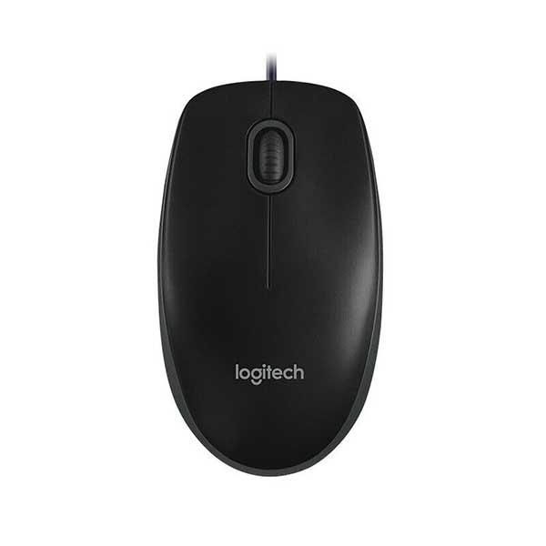 Logitech B100 Ενσύρματο Ποντίκι Μαύρο USB