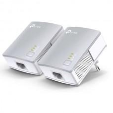Tp-Link TL-PA4010P KIT v3 Powerline Διπλό για Ενσύρματη Σύνδεση με Passthrough Πρίζα και Θύρα Ethernet