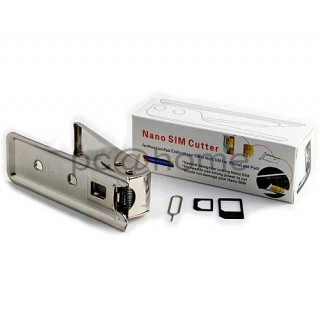 Κόφτης κάρτας nano ή micro SIM για IPhone IPad Tablet Smartphone με 2 αντάπτορες