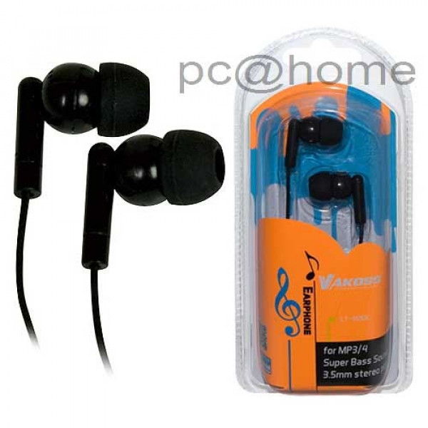 Ακουστικά ενδώτια Vakoss LT-412 Black 14359
