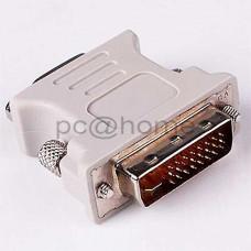 Μετατροπέας DVI-I Dual Link 24+5pin Αρσενικό σε VGA SVGA HD15 Θηλυκό