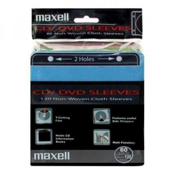 Maxell CD/DVD 60 Χρωματιστά φακελάκια (120discs) 2 Holes 303430.00.CN