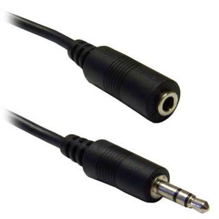 Καλώδιο Stereo 3.5mm προέκτασης Αρσενικό σε Θηλυκό Nickel Plated 3m