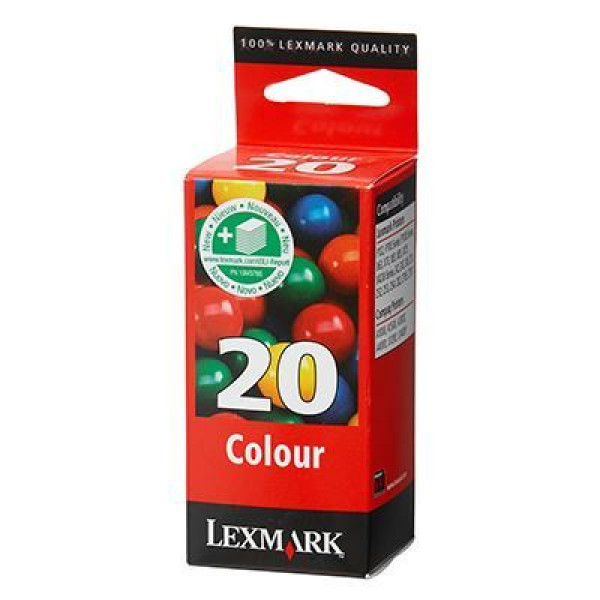 Lexmark 20 Color Ink Catridge 15M0120E Genuine