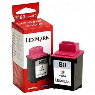 Lexmark 80 Color Ink Catridge 12A1980 Genuine