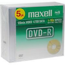DVD-R Maxell 4.7GB 16x Slim Case 1 τεμάχιο 638004